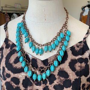 Turqoiuise layered necklace